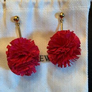 J Crew Pom Pom Pink Earrings
